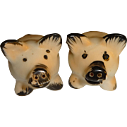 Occupied Japan Pig Salt and Pepper Shakers