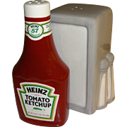 Advertising Heinz Ketchup & Napkin Holder Salt and Pepper Shakers