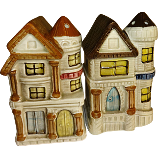 San Francisco Style Houses Salt and Pepper Shakers