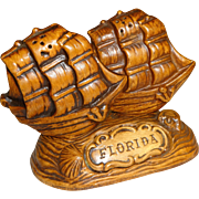 Treasure Craft Florida Ships Salt and Pepper Shakers
