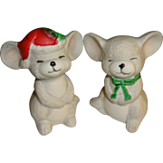 Christmas Mice Salt and Pepper Shakers