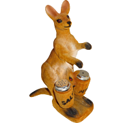 Flocked Kangaroo & Baby Salt and Pepper Shakers