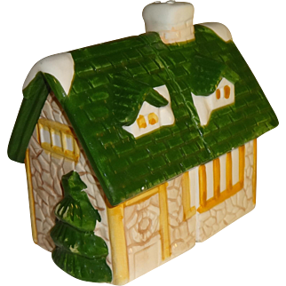 Large Two Piece House Salt and Pepper Shakers
