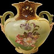 19th Century Hand Painted Early Art Nouveau Porcelain Vase