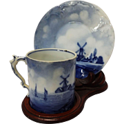 Delft Germany Rosenthal Sanssouci Demitasse Cup, Saucer, and Stand
