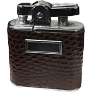 1953 Ronson Wirlwind Lighter with Lizard Jacket - Mint