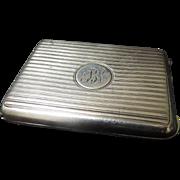 1920 British Sterling Silver Vesta or Matchsafe