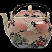19th Century Japanese Porcelain Crane Teapot