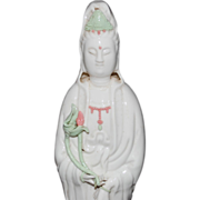 Early 20th Century Chinese Porcelain Kwan Yin Statue