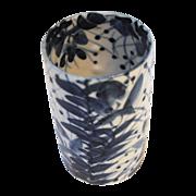 Japanese Porcelain Meiji Period Blue and White Brush Pot