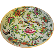Chinese Porcelain Tongzhi Fencai Enamel Celadon Plate