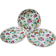 Daoguang Period Chinese Porcelain Low Bowls Set of 3