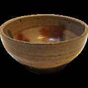 Japanese Lead Glazed Stoneware Rice Bowl