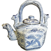 Chinese Porcelain Blue and White Teapot