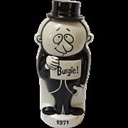 1971 Porcelain Two Sided Burgie Bottle