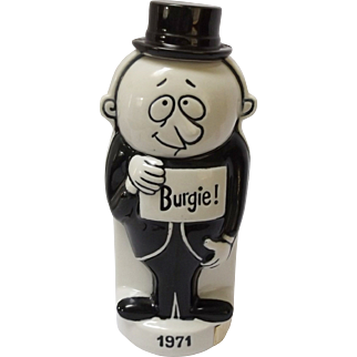 1971 Porcelain Two Sided Burgie Bottle