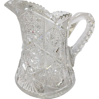 American Brilliant Period Cut Crystal Pitcher