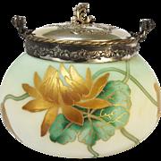 Pairpoint Mt. Washington Crown Milano Biscuit Jar
