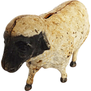 Vintage Cast Iron Sheep Still Bank