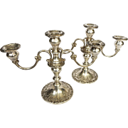 Vintage Gorham Sterling Silver Candelabra Pair