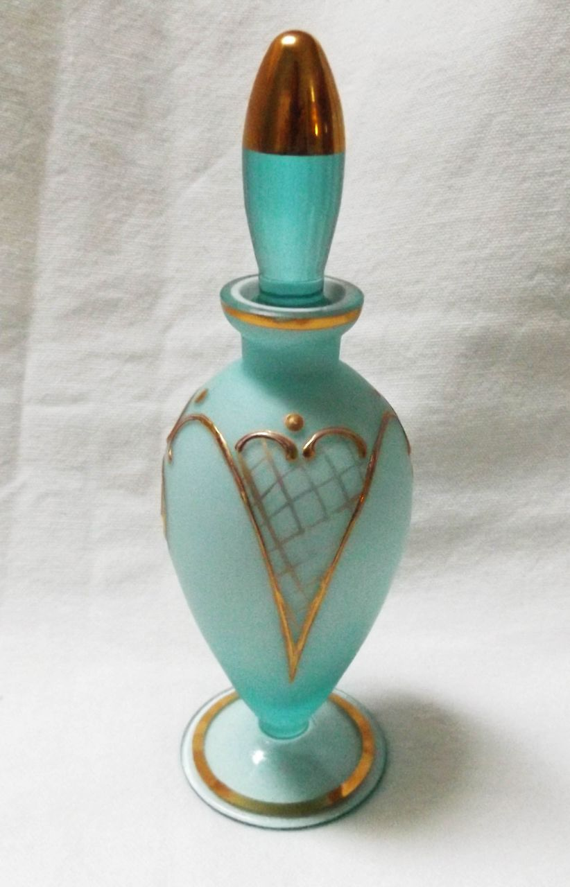 Vintage Blown Satin Glass Perfume Bottle From