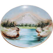 Turn of the Century Hand-Painted Hutschenreuther Plate