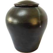 Vintage Studio Art Pottery Glazed Stoneware Jar