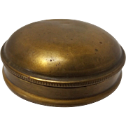 19th Century Brass Men's Snuff Box