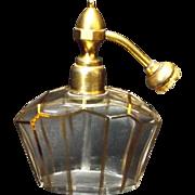 French Crystal Art Deco Perfume Atomizer
