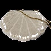 Vintage Art Deco Style Iridescent Beaded Shell Purse