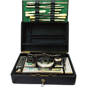 c. 1900 Midocq & Gaillard French Travel Vanity Set