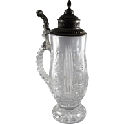 Vintage Covered Cut Glass Stein