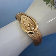 Avon Gold Tone Faux Buckle Clamper Bracelet ~ REDUCED!!