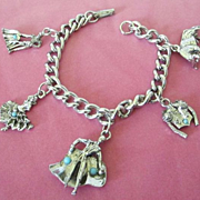 Vintage Spanish Matador Themed Charm Bracelet ~ REDUCED!