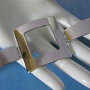 Modernist Square Silver Tone Bracelet ~ REDUCED!