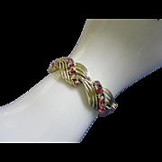 Beautiful STAR Raspberry AB Rhinestone Bracelet ~ REDUCED!