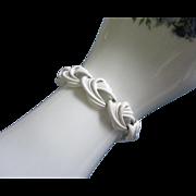 Vintage Monet Summer White Enamel Bracelet ~ REDUCED!!