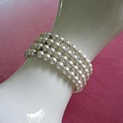 Vintage Faux Pearl Coil Bracelet ~ REDUCED!!!