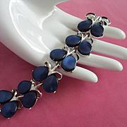 Vintage Midnight Blue Moonglow Lucite Bracelet ~ REDUCED!