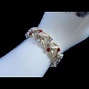 Vintage Lisner Ruby Red & Raspberry AB Rhinestone Bracelet ~ REDUCED!!!