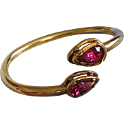 Clara Bright Fuchsia Rhinestone Bangle Bracelet ~ REDUCED!