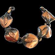 Vintage Copper Leaves Bracelet