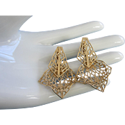 Vintage Gold Tone Filigree Drop Earrings ~ REDUCED!!