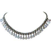 Vintage AB Rhinestone and Crystals Choker Necklace ~ REDUCED!