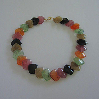 Multi Colored Vintage Lucite Necklace