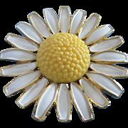 Vintage WEISS Enamel Daisy Flower Pin ~ REDUCED!
