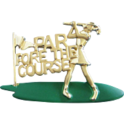 Danecraft Enamel and Gold Tone Golf Pin