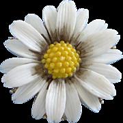 Vintage Lisner Daisy Flower Pin Brooch