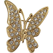 Petite and Pretty Rhinestone Butterfly Pin