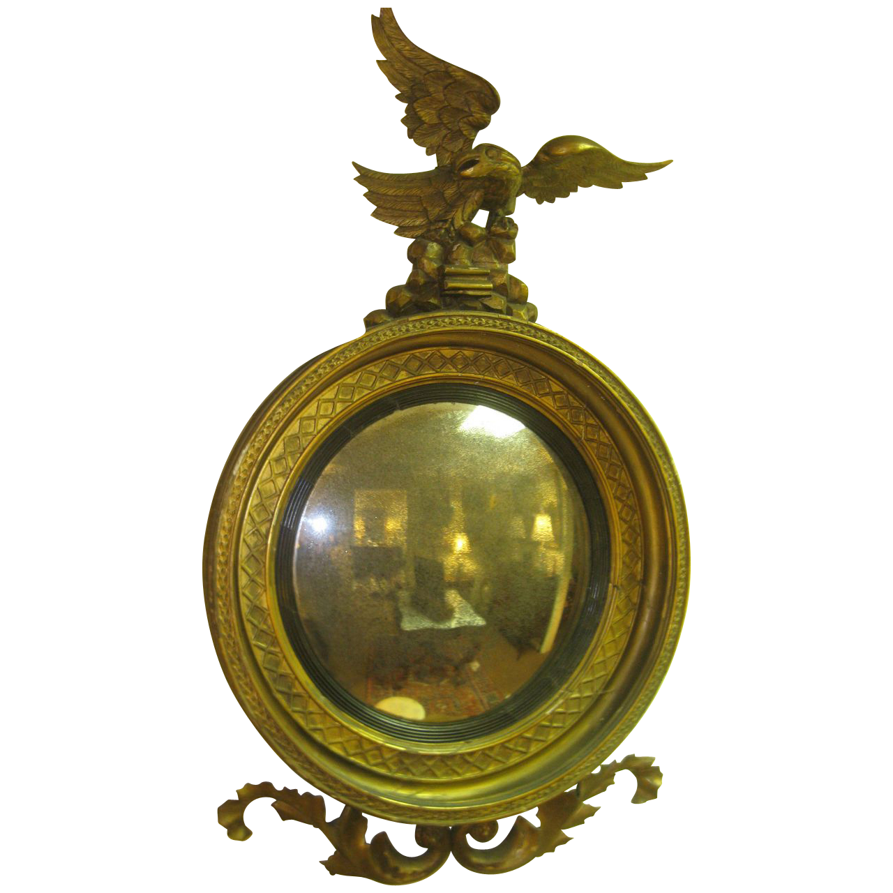 English antique bulls eye convex mirror from for Convex mirror